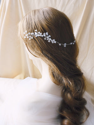Hong Kong bride hair comb with Japanese cherry blossom flowers