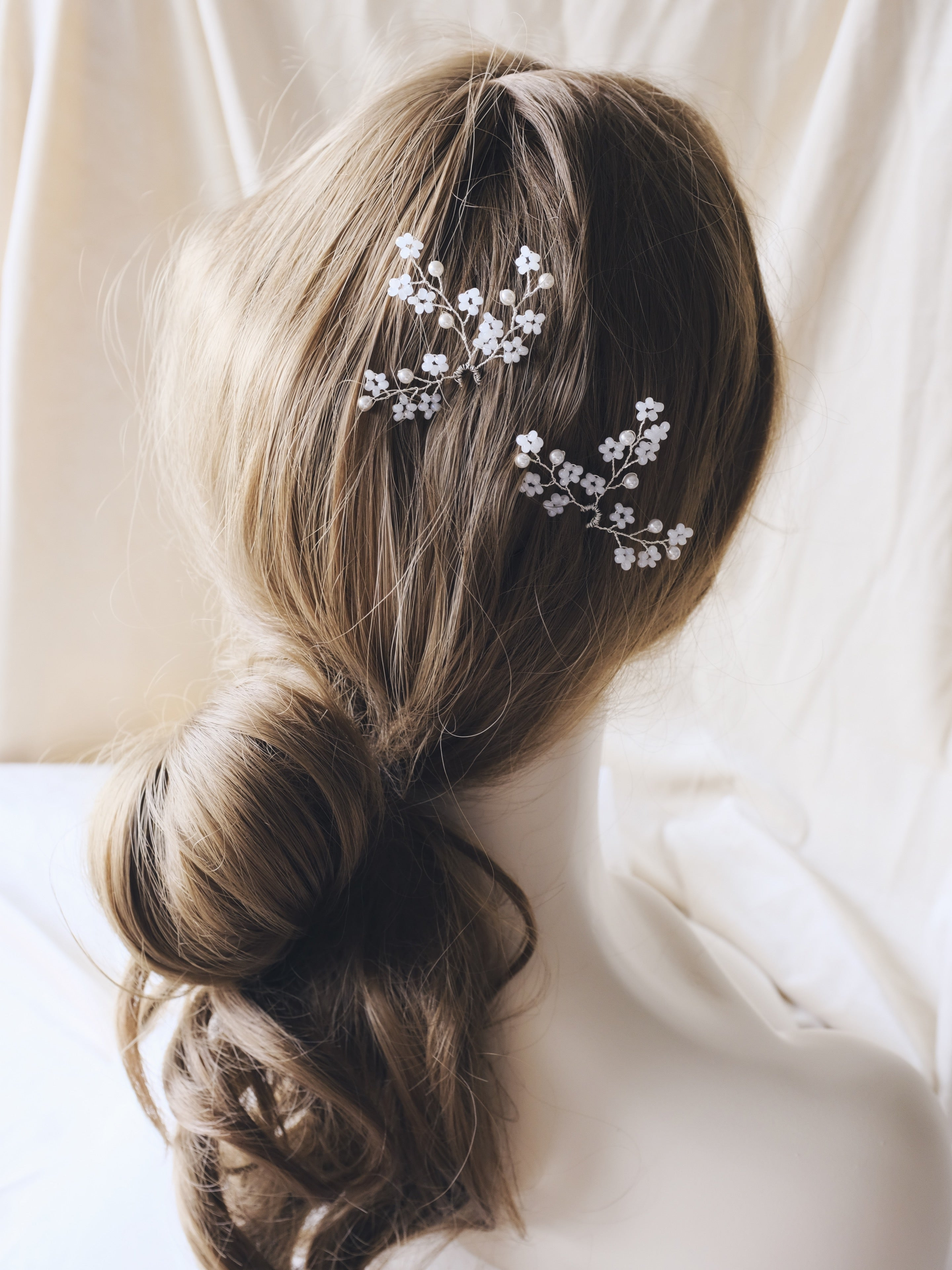 Romantic wedding hairstyle updo Hong Kong bridal hair accessories