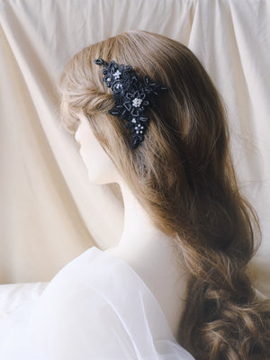 Dark romantic bride hair accessories, whimsical dreamy lace headpieces Hong Kong