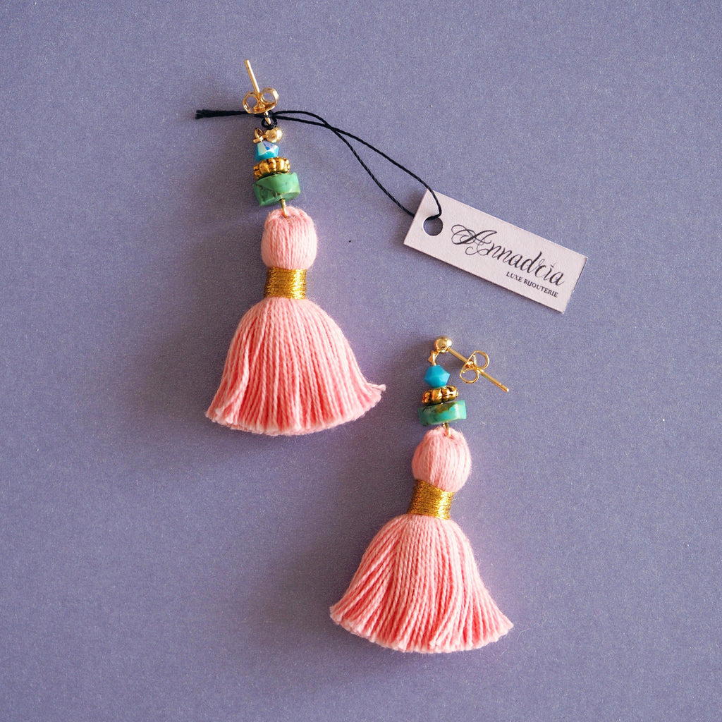 India earrings in Flamingo