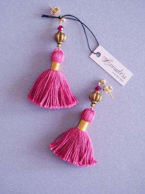 India earrings in Fuchsia Rose