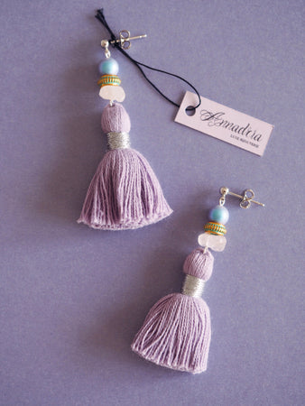 India earrings in Lavender
