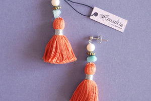 India earrings in Tangerine