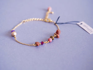 India bracelet in Rhodonite