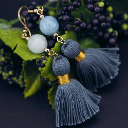 Arabella earrings in Aquamarine