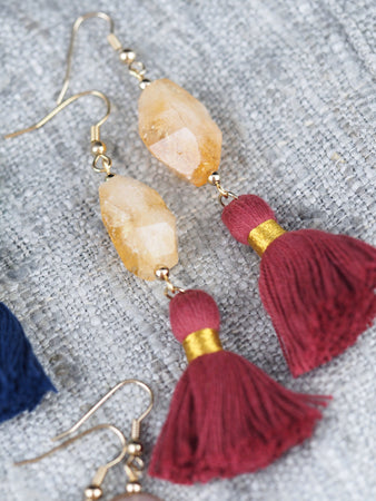 Arabella earrings in Citrine