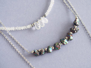 Lavinia necklace in Moonstone