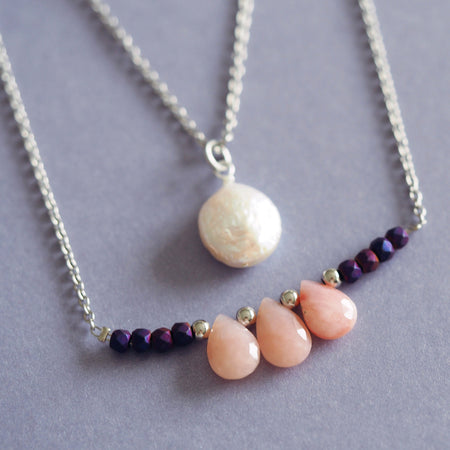 Bianca necklace in Pink Opal