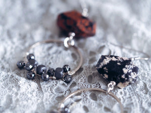 Norah earrings in Brecciated Agate (Exclusive)