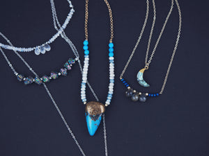 Bohemian necklaces celestial gemstone jewellery