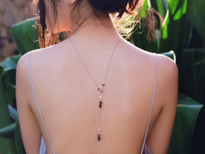 Boho lariat back necklace