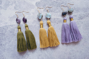 Beth earrings in Amethyst