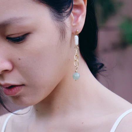 Imogen earrings in Aquamarine