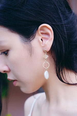 Imogen earrings in Citrine
