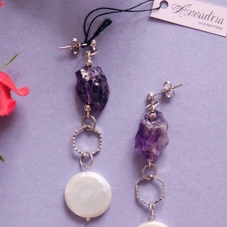 Imogen earrings in Amethyst