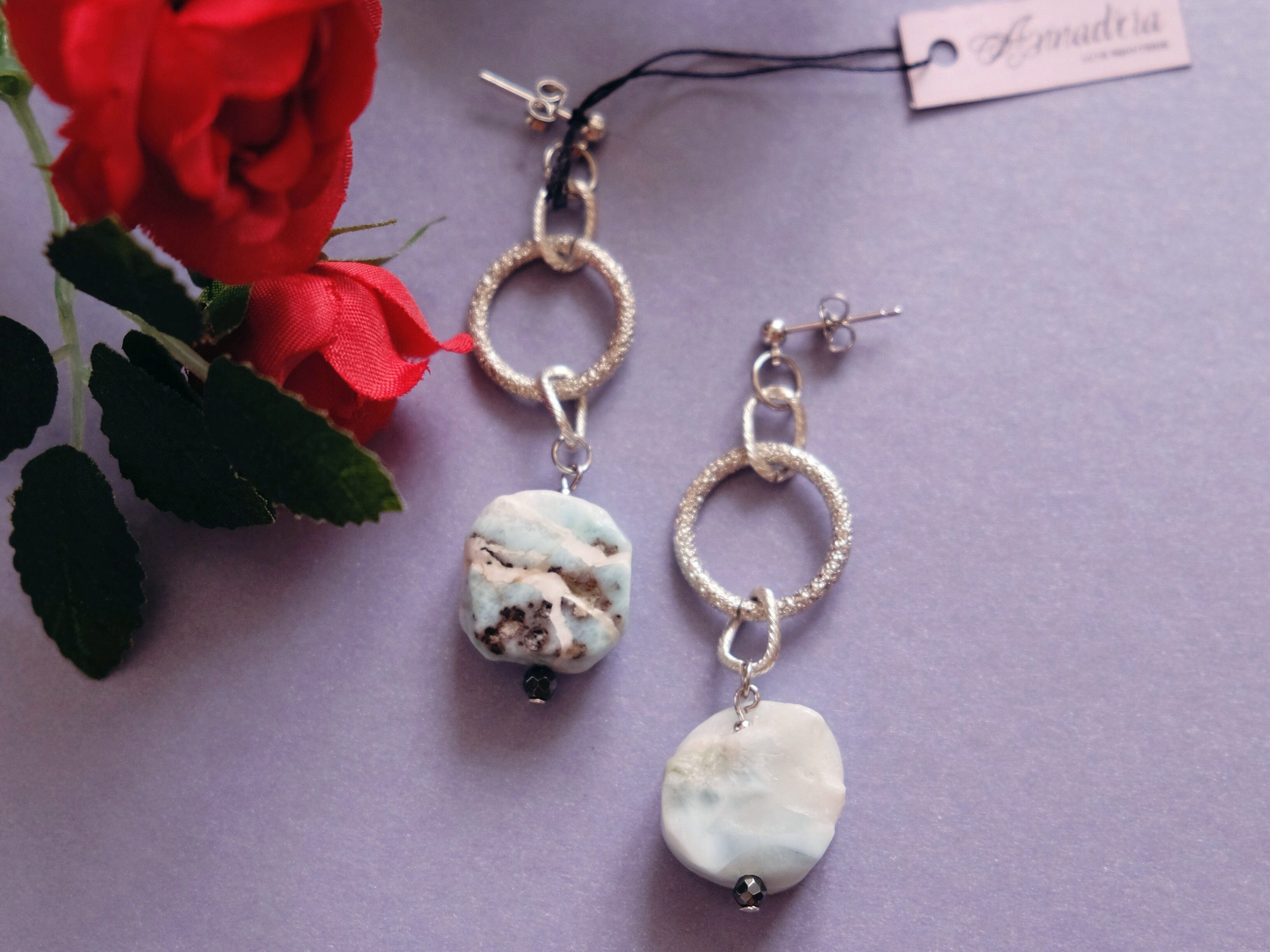 Imogen earrings in Larimar