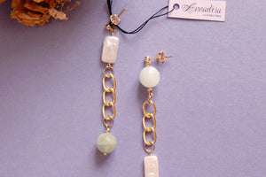 Beautiful gemstone jewellery handmade earrings