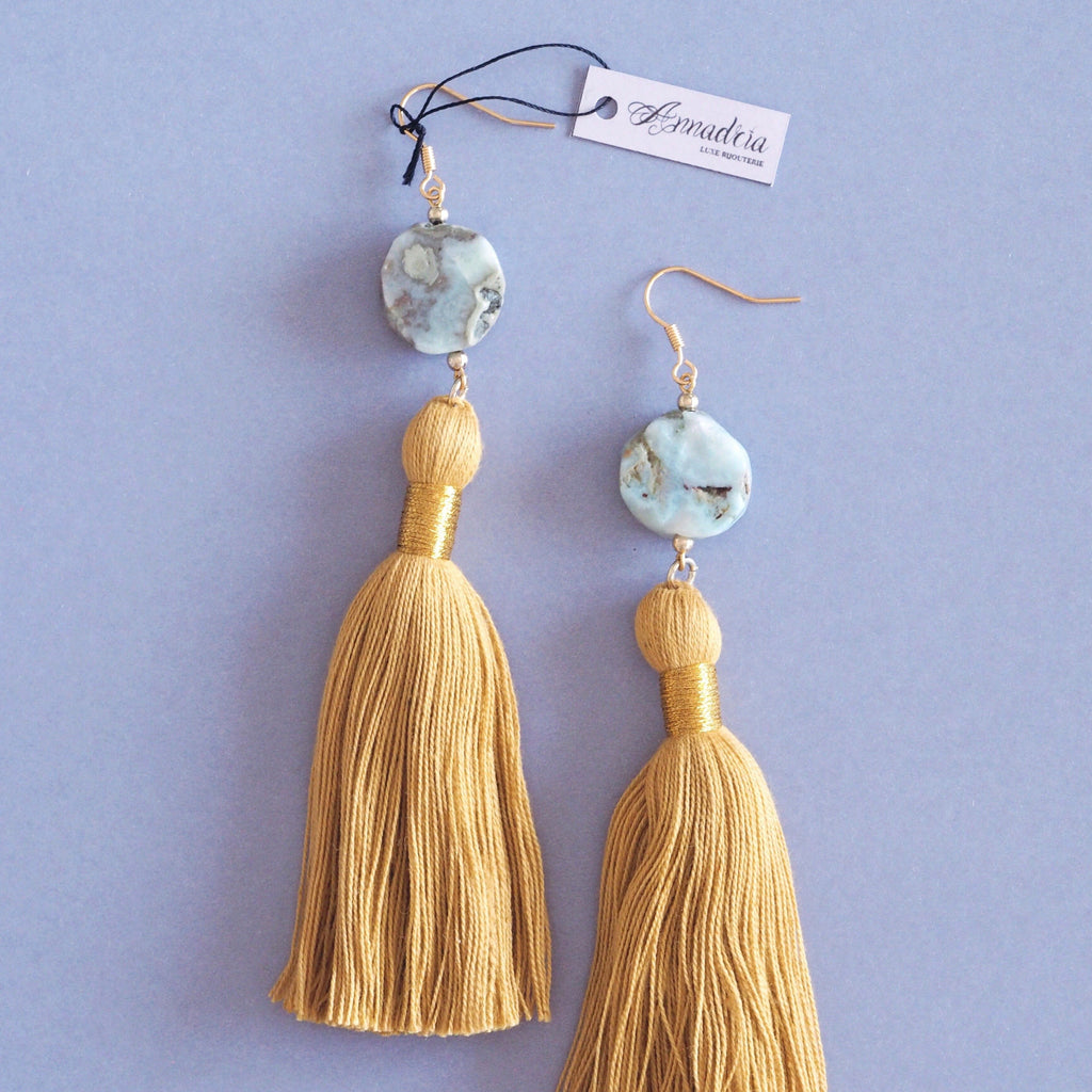 Beth earrings in Larimar