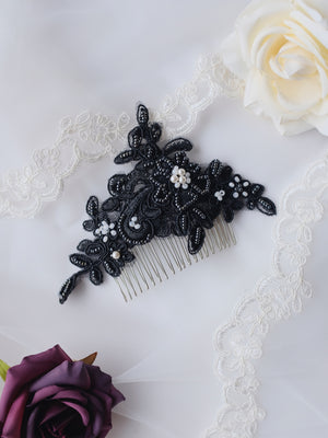 Gothic wedding hair comb handmade