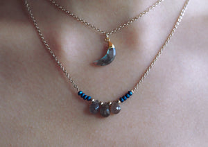 Bianca necklace in Labradorite