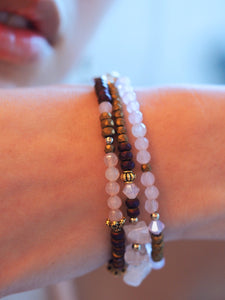 Helena bracelet in Rose Quartz
