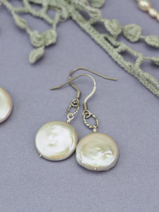 Classic drop freshwater pearl earrings