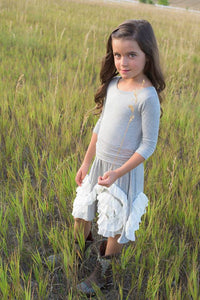 Boots Dress-Gray & Ivory