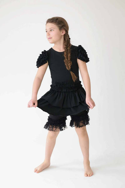 Pantaloons- Black with Lace Ruffles