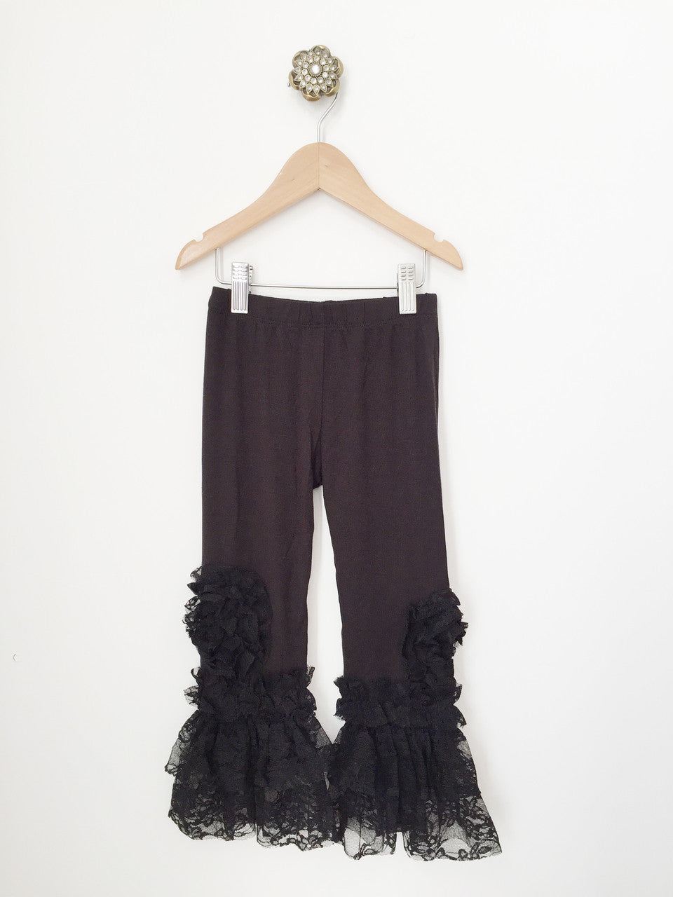 Legging-black w/lace detail
