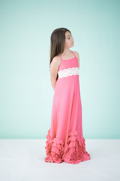 Full Bloom Maxi- Coral