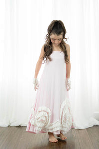 Full Bloom Maxi- Pink & Ivory