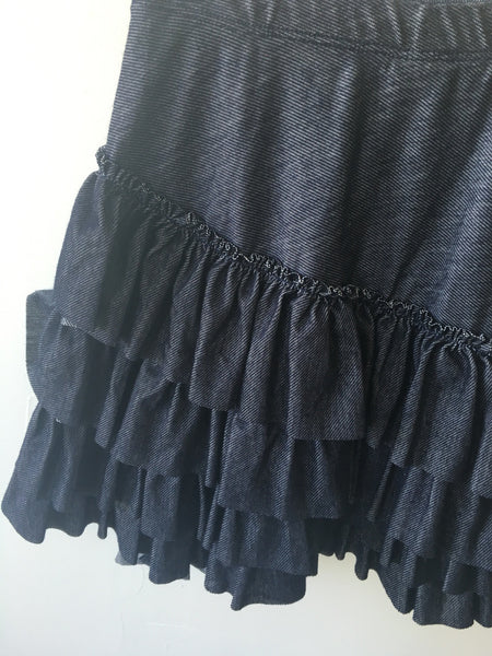 Bustle Skirt- Knit Denim