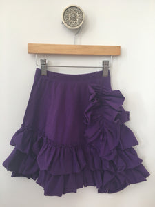 Bustle Skirt- Eggplant