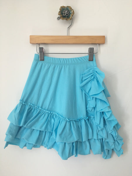 Bustle Skirt- Aqua