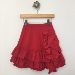 Bustle Skirt- Red