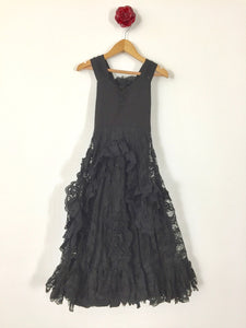 Vintage Nightingale Dress - Black