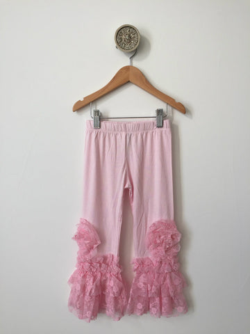 Legging-pink w/lace