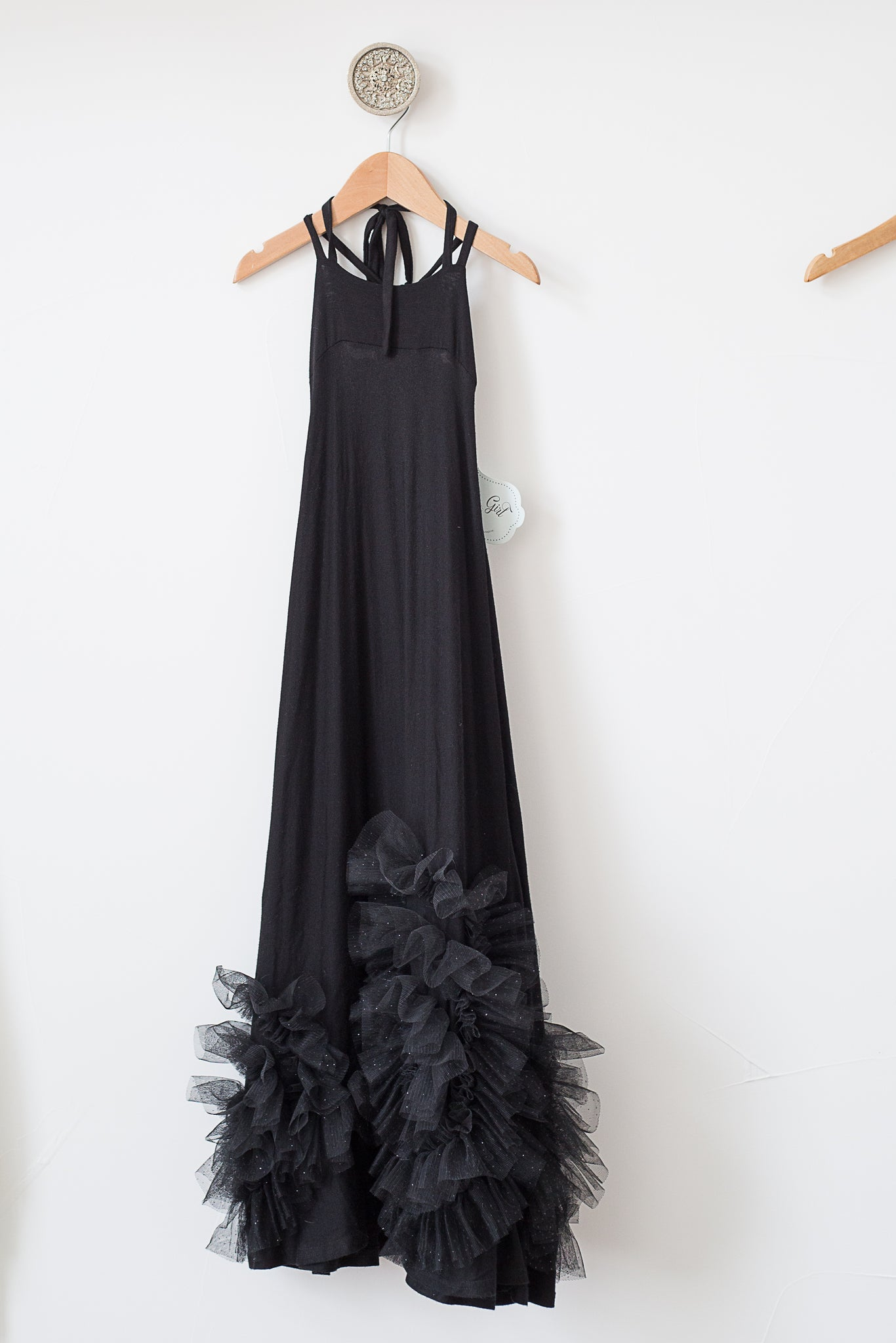 Pixie Girl Maxi Dress - Black/Sparkle
