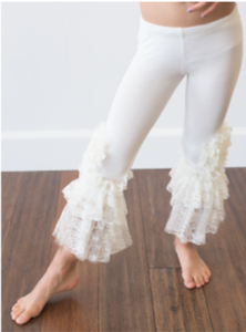 Peony Legging Ivory with Lace