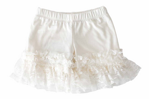 Ivory Pantaloons with lace ruffles