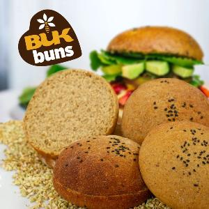 BUK Sprouted Burger Buns - sesame (4 pack)