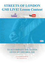 GMI LIVE! STREETS OF LONDON Lesson Free PDF