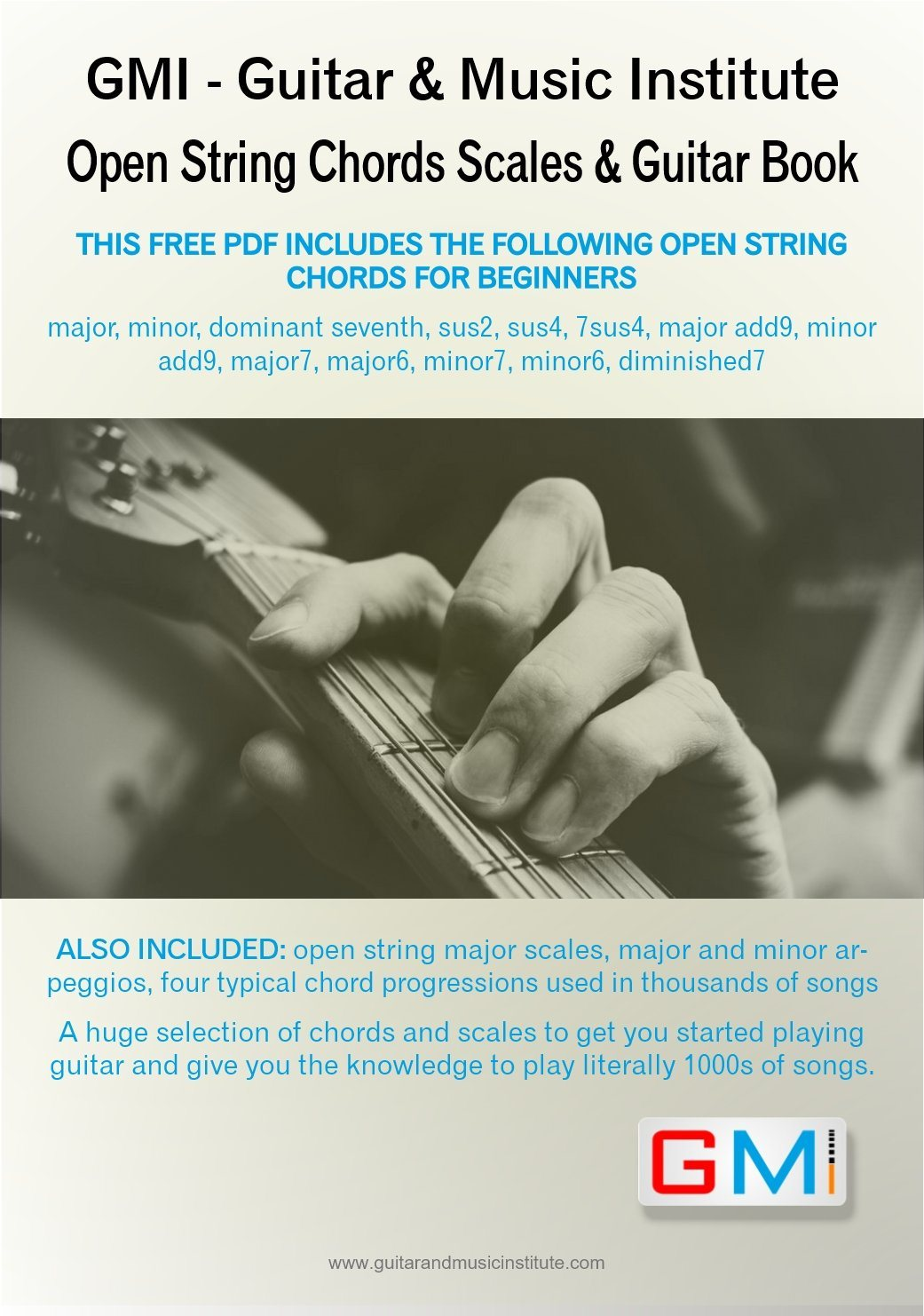 Open String Guitar Chords Arpeggios Scales Book