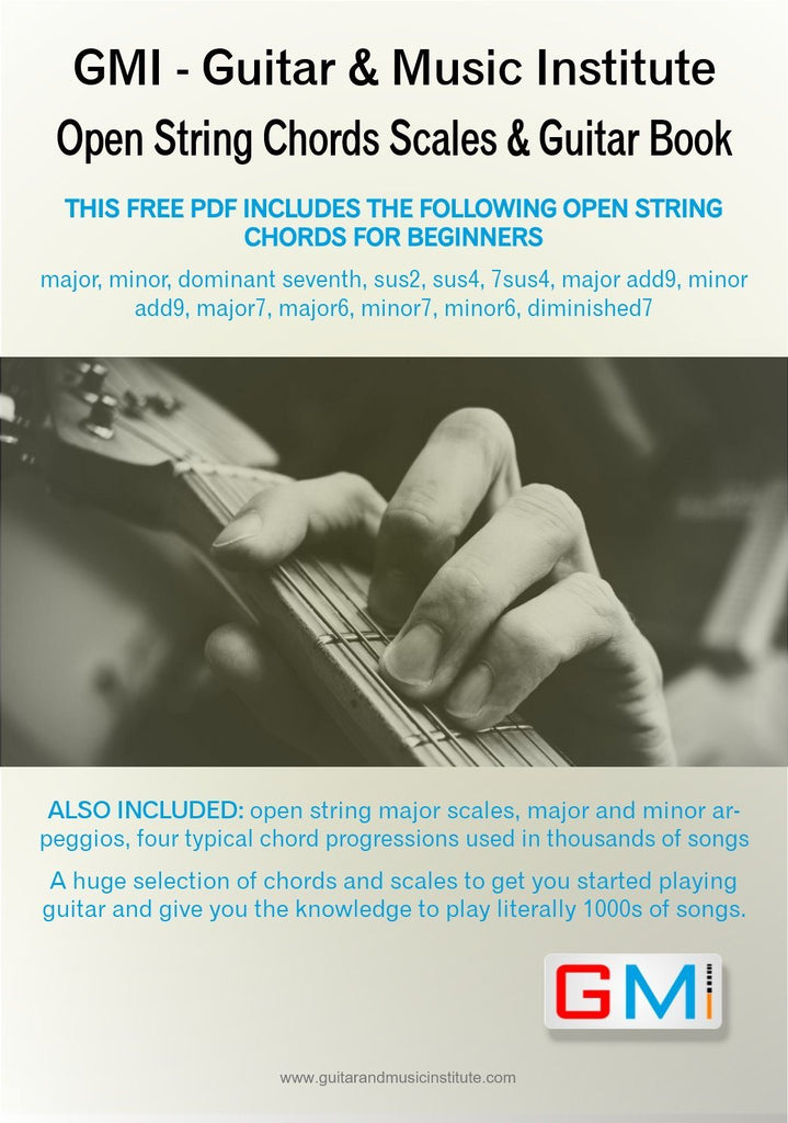 Open String Guitar Chords Arpeggios Scales Book Immediate Downlo