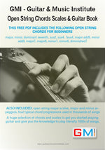 Open String Guitar Chords - Arpeggios - Scales Book - IMMEDIATE DOWNLOAD - GMI - Guitar and Music Institute Online Shop