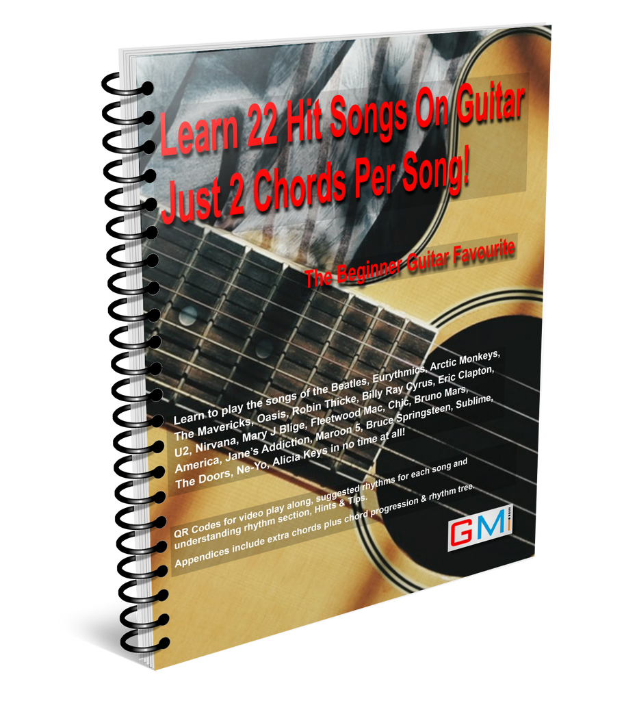 learn 22 hit songs on guitar just 2 chords per song!