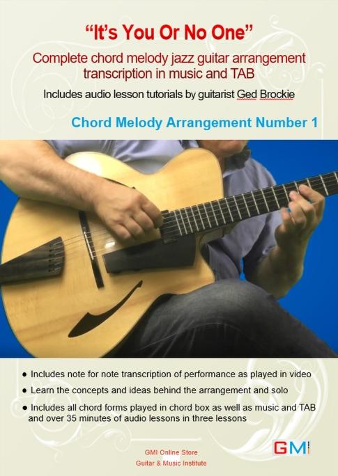 It's You Or No One - Chord Melody Jazz Guitar Arrangement - GMI - Guitar and Music Institute Online Shop