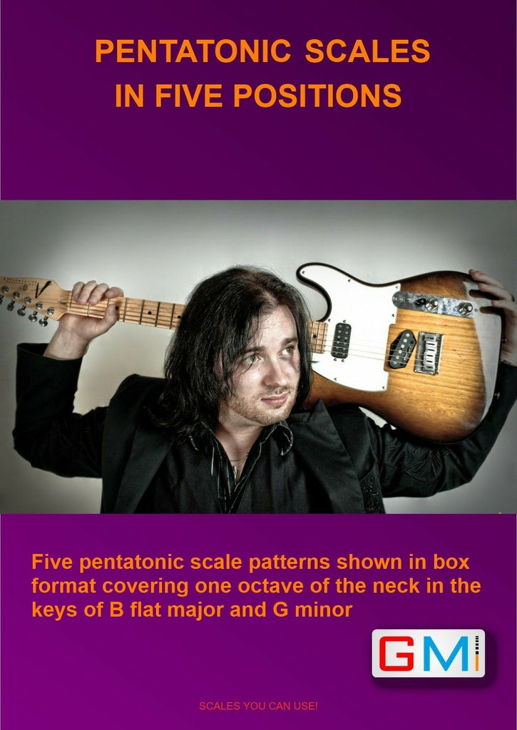 PDF FOR FIVE PENTATONIC SCALES VIDEO - GMI - Guitar and Music Institute Online Shop