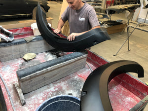 Painting our Polypropylene Fender Flares!
