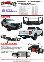 Bull bars and electric winches